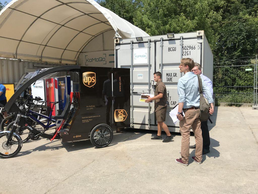 UPS Lastenfahrrad Elektro Cargobike letzte Meile