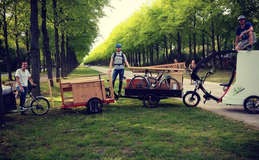 Transport mit Fahrrad