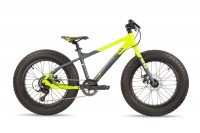 Kinderfahrrad S'cool XTfat 20 Zoll 9 Gang - neon yellow / black matt