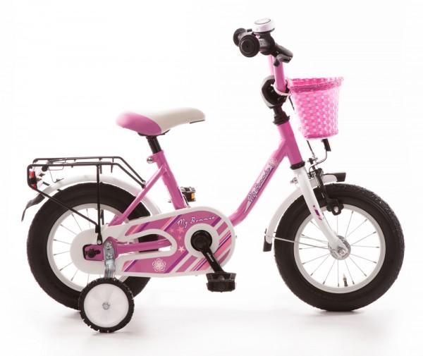 Kinderfahrrad Bachtenkirch My Bonnie 12 Zoll - pink weiß