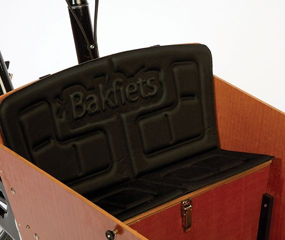 Bakfiets schwarzes Sitzkissen