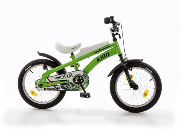 Kinderfahrrad Bachtenkirch Kawasaki Kidd 14 Zoll - grün / schwarz