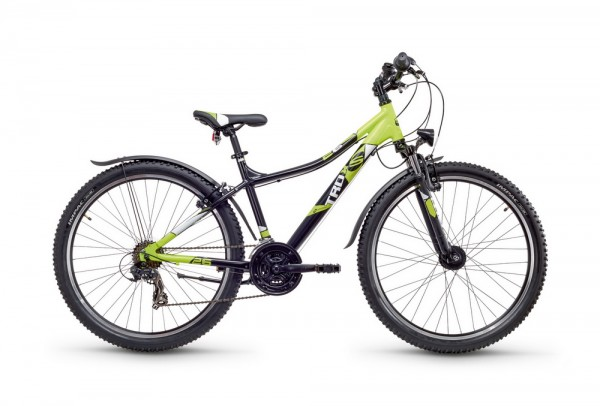Kinderfahrrad S'Cool troX urban 26 Zoll 21 Gang MTB - black citruslemon matt