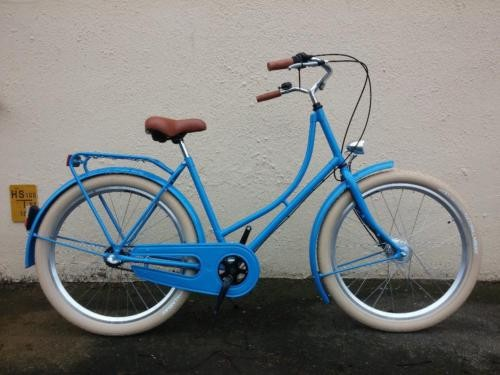 Hollandrad Ballonreifen blau