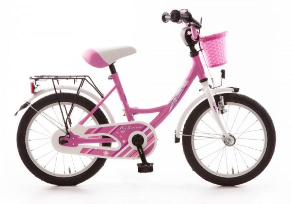 Kinderfahrrad Bachtenkirch My Bonnie 16 Zoll - pink weiß