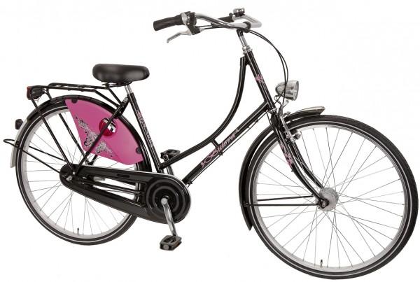 Hollandfahrrad schwarz pink