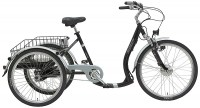 BBF Shopping-Dreirad Bregenz mit E-Antrieb damen silber