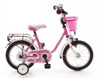 Kinderfahrrad Bachtenkirch My Bonnie 14 Zoll - pink weiß
