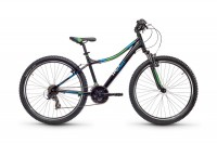 Kinderfahrrad S'Cool troX cross 26 Zoll 21-S Gang MTB - black/blue/green matt
